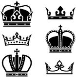 Crowns - Vector illustration. Simple vector illustrations isolated on white background – royal crowns Stock Image