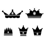 Crowns vector illustrator EPS 10 Royalty Free Stock Photos