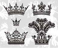 crowns vektorn vektor illustrationer
