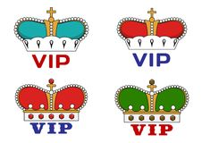 Crowns with VIP sign Royalty Free Stock Photo