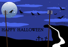 Crows chatting on Halloween Day stock image