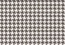 Crows foot pattern from pixels. Vector seamless crows foot pattern. Crows foot pattern from pixels Royalty Free Illustration