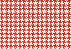 Crows foot pattern. Vector seamless red crows foot pattern. Crows foot pattern from pixels Stock Illustration