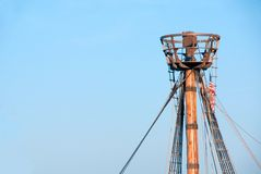 Crows Nest. A crows nest on a replica of a historical ship Royalty Free Stock Photography