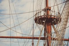 Free Crows Nest Ship Lookout Royalty Free Stock Images - 168439869