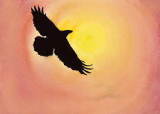 Crows in the sky Royalty Free Stock Images