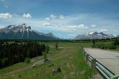 Crowsnest高速公路,亚伯大加拿大。 免版税库存照片