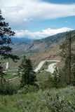 Crowsnest高速公路,省# 3, BC Osoyoos Cana 免版税库存图片