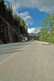 Crowsnest Highway, BC, Canada. Stock Image