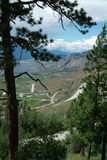Crowsnest Highway, Provincial # 3, Osoyoos BC Canada Royalty Free Stock Photo