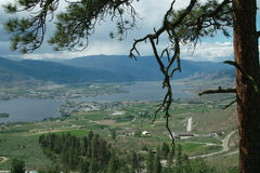 Crowsnest Highway View of Osoyoos BC Canada Stock Image