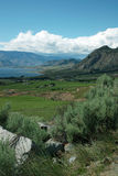 Crowsnest Highway View of Osoyoos BC Canada Stock Photography