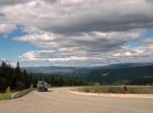 Crowsnest huvudväg, F. KR. #3, B.C. Canada Arkivbild