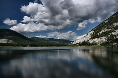 Crowsnest Lake reflection stock photo