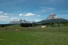 Crowsnest Mountain, BC Canada. Royalty Free Stock Photo
