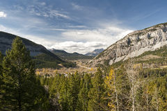 Crowsnest Pass in Alberta Stock Photo