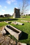 Croxden Abbey Grave Stock Photo
