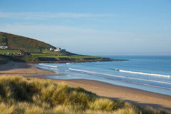 Croyde Beach Devon England UK With Sand Dunes In Summer Stock Images