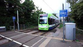 Croydon Tramlink, London stock footage