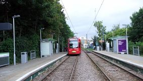 Croydon Tramlink, London stock video footage