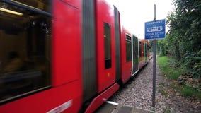 Croydon Tramlink, London stock footage
