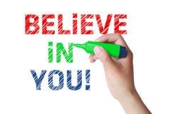 Croyez en vous Image libre de droits