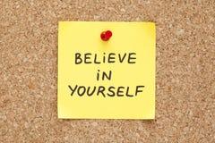 Collant croyez en vous-même photos stock