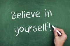 Croyez en vous-même photo libre de droits