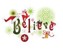 CROYEZ - le message de Noël illustration stock
