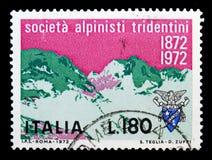 Crozzon di Brenta, serie tridentino della società degli alpinisti, circa 197 Immagini Stock
