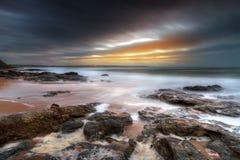 Crépuscule chez l'Océan Atlantique Image libre de droits