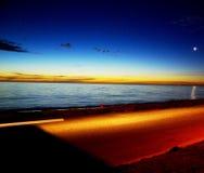 Crépuscule côtier d'Adelaïde Image libre de droits