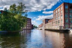 Córrego da parte superior de Tammerkoski Imagem de Stock Royalty Free