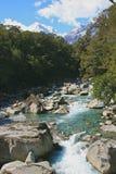 Córrego rochoso Fotografia de Stock