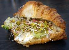 Crroissant als Sandwich Stockbilder