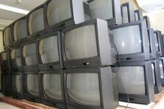 CRT αποθήκη εμπορευμάτων TV Στοκ Φωτογραφίες