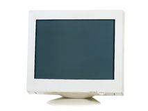 CRT Monitor. Old CRT monitor isolated on white Royalty Free Stock Photos