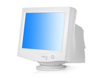 CRT monitor. Isolated on a white background Royalty Free Stock Images