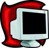 CRT monitor. Illustration Stock Photos