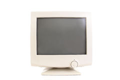 CRT monitor. Old CRT monitor over white background Stock Images