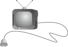 CRT TV Royalty Free Stock Photography
