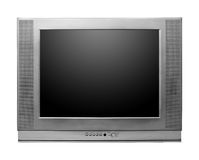 CRT TV With Screen Clipping Paths Included. Isolated on white background Stock Images