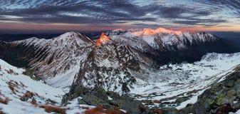 Crête d'Ostru Rohac à l'hiver Photographie stock libre de droits