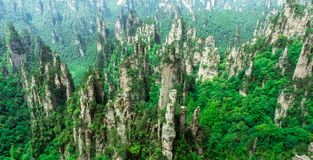 Crêtes de montagne à Zhangjiajie, Chine Photographie stock