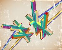 Cru 3D abstrait Illustration de Vecteur