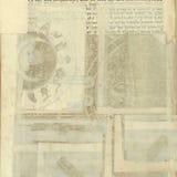 cru antique des textes d'exposé introductif Photo stock