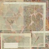 cru antique des textes d'exposé introductif Image libre de droits