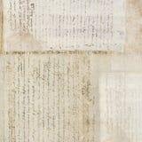 cru antique des textes d'exposé introductif Photos libres de droits