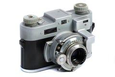 Cru appareil-photo de photo de chrome en métal de 35 millimètres Photographie stock libre de droits
