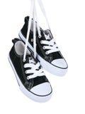 Cru arrêtant les chaussures noires Images stock